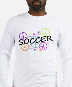 Colored Peace Signs Soccer Long Sleeve T-Shirt