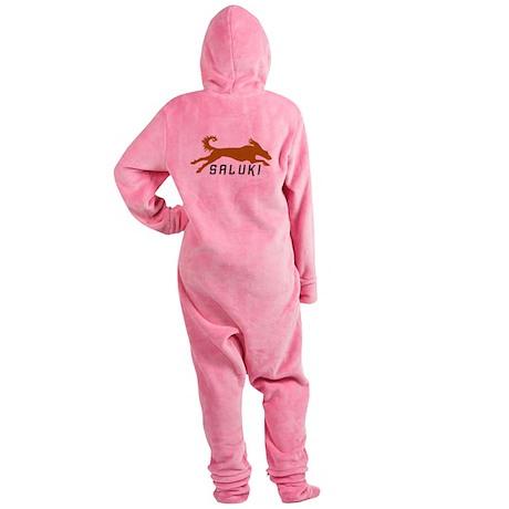 running saluki gold blk.png Footed Pajamas