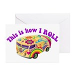 How I Roll (Hippie Van) Greeting Cards (Package of