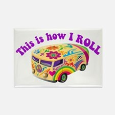 How I Roll (Hippie Van) Rectangle Magnet