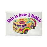How I Roll (Hippie Van) Rectangle Magnet (10 pack)