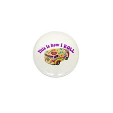 How I Roll (Hippie Van) Mini Button (100 pack)