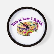 How I Roll (Hippie Van) Wall Clock