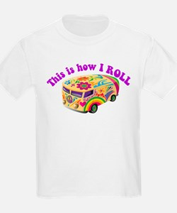 How I Roll (Hippie Van) Kids T-Shirt