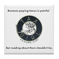 Taxgirl Tile Coaster