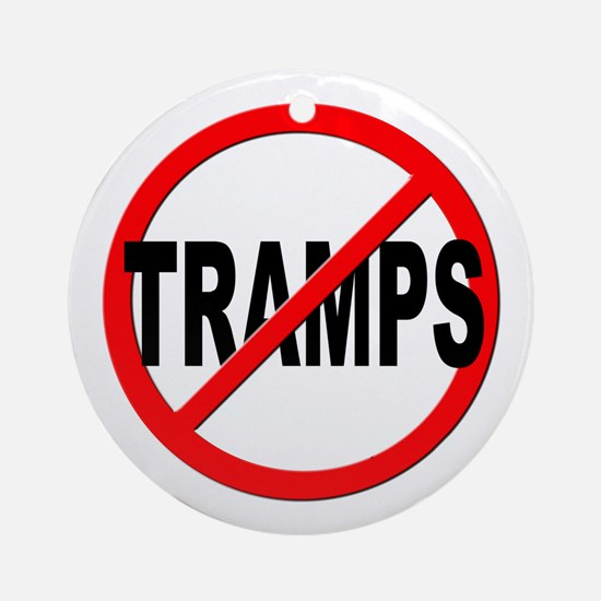 Anti / No Tramps Ornament (Round)