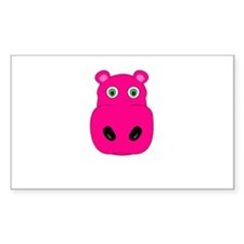 cute pink hippo face Decal
