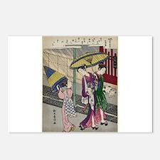 Rain In May - Harunobu Suzuki - 1770 Postcards (Pa