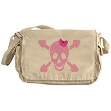 Pink Girl Skull Messenger Bag