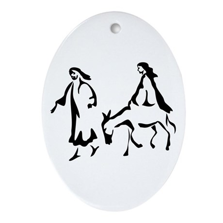 Mary and Joseph Oval Ornament