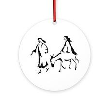 Mary and Joseph Ornament (Round)