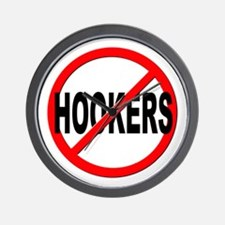 No / Anti Hookers Wall Clock