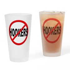 No / Anti Hookers Drinking Glass