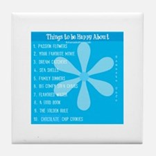 Things to be happy about_2! Tile Coaster