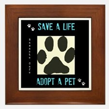 Save a Life, Adopt a Pet Framed Tile