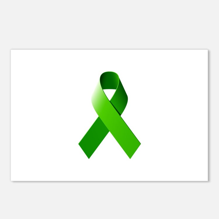 Green Ribbon Postcards (Package of 8)