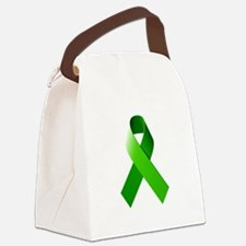 Green Ribbon Canvas Lunch Bag