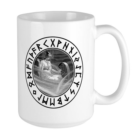 Frigg Rune Shield Large Mug