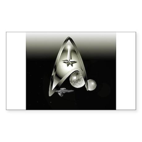 Unique Star Trek Design Sticker (Rectangle)
