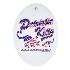 Patriotic Cats Oval Ornament
