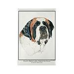 St Bernard Open Edition Rectangle Magnet (100 pack