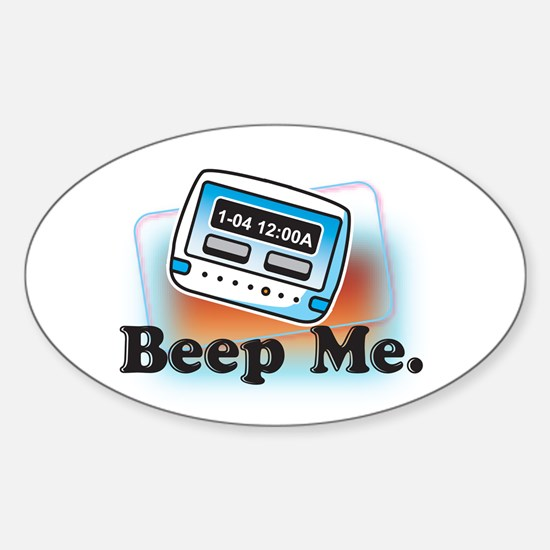Beep Me Oval Decal