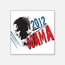 "President Barack Obama 2012 Square Sticker 3"" x 3"""