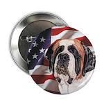 Saint Bernard US Flag Button