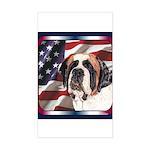 Saint Bernard US Flag Rectangle Sticker