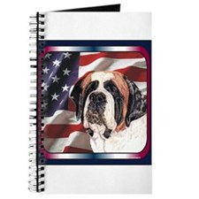 Saint Bernard US Flag Journal