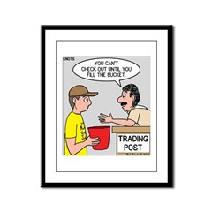 Trading Post Bucket Framed Panel Print
