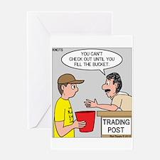 Trading Post Bucket Greeting Card
