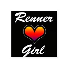 "Jeremy Renner Girl! Square Sticker 3"" x 3"""