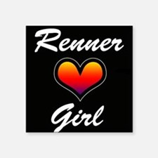 "Jeremy Renner Girl! Square Sticker 3"" x 3"""