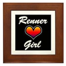 Jeremy Renner Girl! Framed Tile