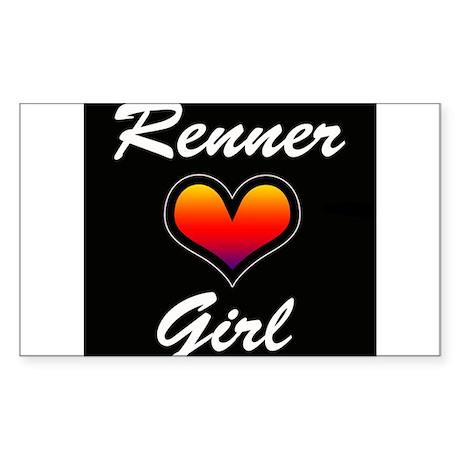 Jeremy Renner Girl! Sticker (Rectangle)