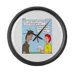 Pet Tick Large Wall Clock
