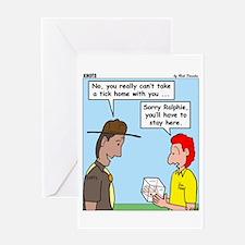 Pet Tick Greeting Card
