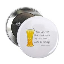 "Beer is Proof... 2.25"" Button"