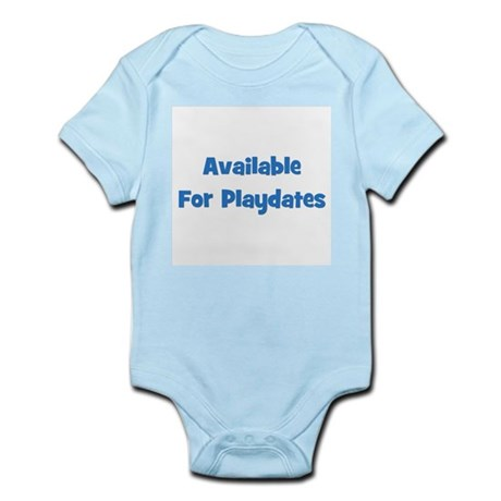 Available For Playdates (blue Infant Creeper