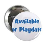 Available For Playdates (blue Button