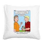 Potable Water Square Canvas Pillow