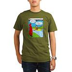 Campsite Canoeing Organic Men's T-Shirt (dark)