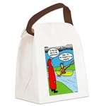 Campsite Canoeing Canvas Lunch Bag