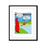 Campsite Canoeing Framed Panel Print