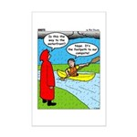 Campsite Canoeing Mini Poster Print