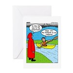 Campsite Canoeing Greeting Card