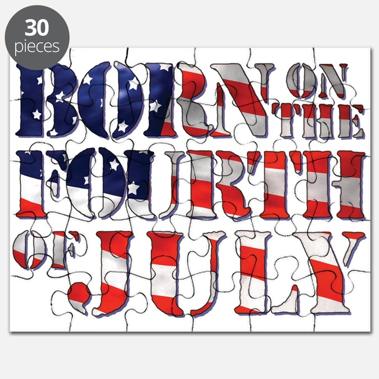 Cute 4th of july birthday Puzzle