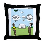 Lunch Airlift Throw Pillow