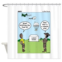 Lunch Airlift Shower Curtain
